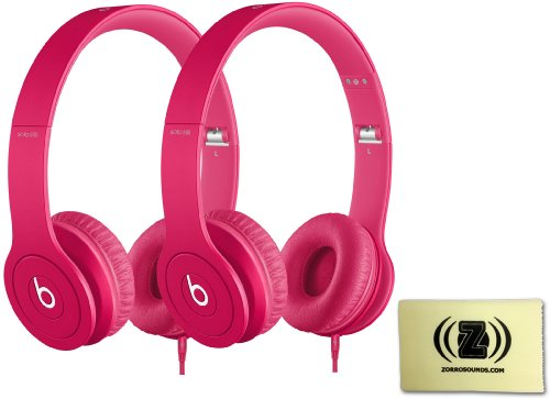 Beats Solo Hd Monochromatic Color Headphones Drenched In Pink Bundle With Second Beats Solo Hd Drenched In Pink And Custom Designed Zorro Sounds Cleaning Cloth