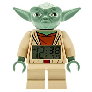 LEGO Kids' 9003080 Star Wars Yoda Minifigure Alarm Clock