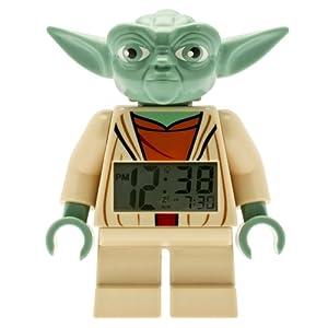 LEGO Kids' 9003080 Star Wars Yoda Minifigure Alarm Clock