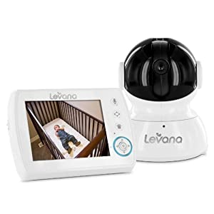 Levana Astra Digital Baby Video Monitor with Talk to Baby Intercom, White