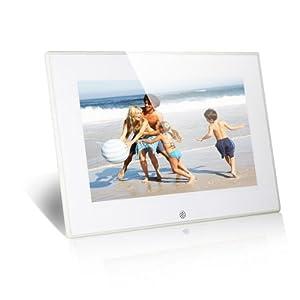 Koolertron 8 Inch LCD Widescreen (4:3) Digital Photo Frame Video Player Music Player HD 800*600 High Resolution SD/MMC/MS - USB Slots (White)