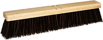 "Magnolia Brush 5618-A Mixture A-Line Floor Brush, Plastic Bristles, 3"" Trim, 18"" Length, Dark Red/Black (Case of 12)"