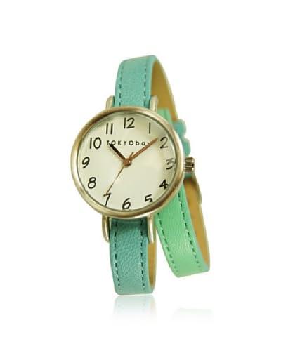 TOKYObay Women's T521-BL Dopio Wrap Blue/White Leather Watch