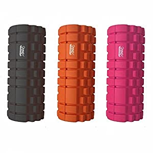 Protone trigger point foam roller with grid trigger point zones for deep massage / rehab / physiotherapy / crossfit / running / marathon / yoga / pilates - choose different styles / colours (black)