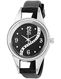 Watch Me Black Rubber Analogue Watch For Women WMAL-098-BK