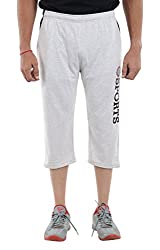 LLUMINATI Men's Cotton Capri (Capri Grey, Grey, M)