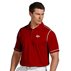 NFL Kansas City Chiefs Mens Icon Desert Dry Polo by Antigua