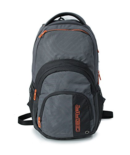 856be347ae74 Gear Climber 35 Ltrs Grey And Orange Laptop Backpack (LBPCLIMBR0406 ...