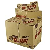 FIVE PACKS (1500 total papers) RAW 300s Organic Cigarette Rolling Papers 1.25 Size