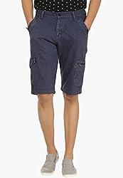Fever Blue Cotton Denim Shorts for Man-36