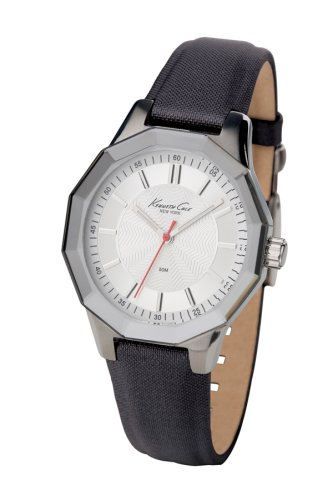 Kenneth Cole Black Nylon Strap White Dial Women's watch #KC2471