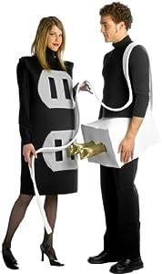 Rasta Imposta Lightweight Plug and Socket Couples Costume, Black/White, One Size