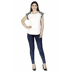 Gudi Women's Cotton Top_G5120WHITE-XL_White_XL