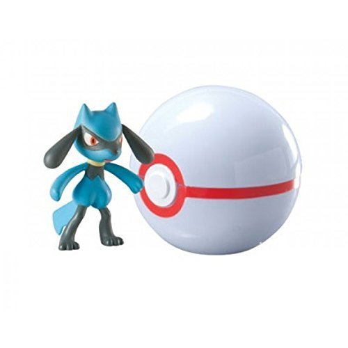 Pokemon - Pokeball da viaggio T18870 / T18532 Pokemonfigur Riolu nel Premier ball