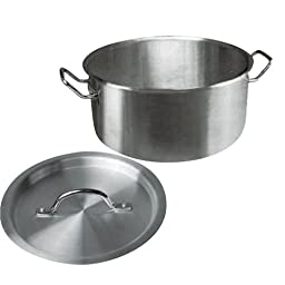 Winware Stainless Steel 20 Quart Brasier with Cover