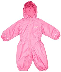 Regatta Splosh Kids Leisurewear All-in-One Suit- Lipstick, 6-12 Months