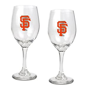 San Francisco Giants 2 Piece Wine Glass Set by Great American Products