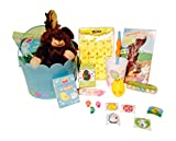 Easter Basket filled with Toys and Candy! A complete Easter kit for a boy or girl. Even a chocolate scented Plush Bunny!
