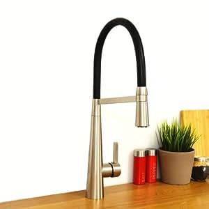 ENKI Pull Out Spray Kitchen Sink Mixer Tap Modern Tall