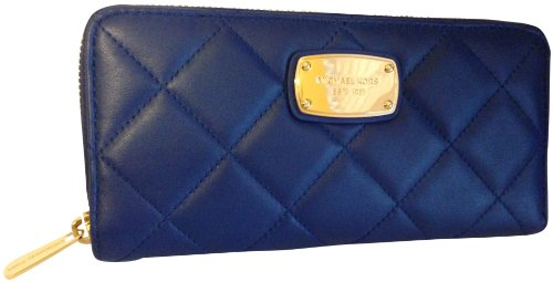 Michael Kors Hamilton Quilt Genuine Leather Za Continental Wallet Sapphire