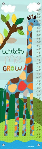 Oopsy Daisy Growth Charts Watch Me Grow Boy by Lesley Grainger, 12 by 42-Inch