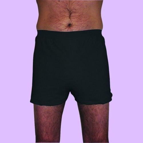 Mens Washable Bedtime Incontinence Pants (Black)
