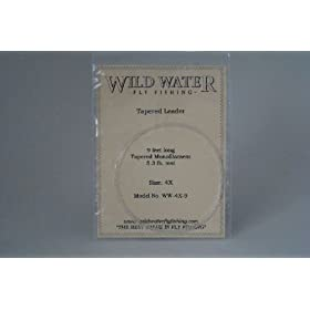 Wild Water Fly Fishing Tapered Leader-4X