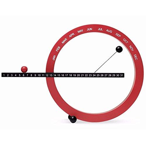 Moma Calendario Perpetuo, Piccolo, Rosso E Nero