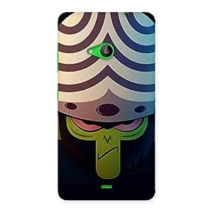 Cute Green Black Mojo Back Case Cover for Lumia 535