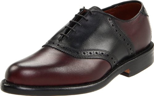Allen Edmonds Men's Shelton Oxford ,Burgundy/Black,8.5 D US