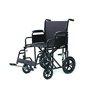 Heavy Duty Transport Chair Red/20 in. seat to floor/400 lb./Oversized