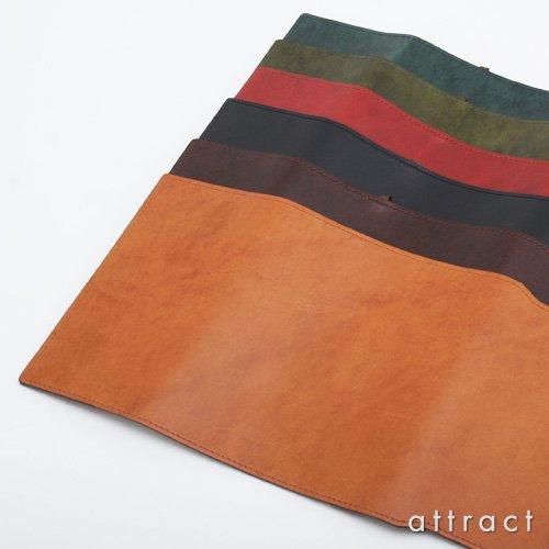 HERGOPOCH エルゴポック no.06 Waxed Leather ワキシングレザー ブックカバー 文庫本サイズ(06W-BC) (ブラック)