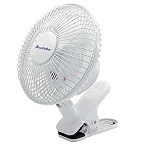 "QUALITY 6"" Clip On Fan 2 Speed, Office, Hydrophonics Cooling Fan with Plug by Fans4less"