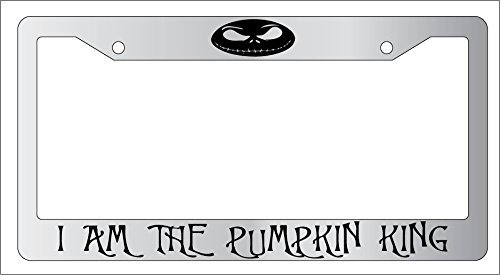 Chrome License Plate Frame I Am The Pumpkin King Auto Accessory EBSK Nightmare Before Christmas AMA 876 (Nightmare License Plate Frame compare prices)