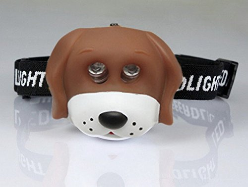 Misslo Kids Led Animal Headlamp Lion Monkey Duck Frog Duck Panda Headlight For Camping Climning Reading (Brown Puppy) front-364175
