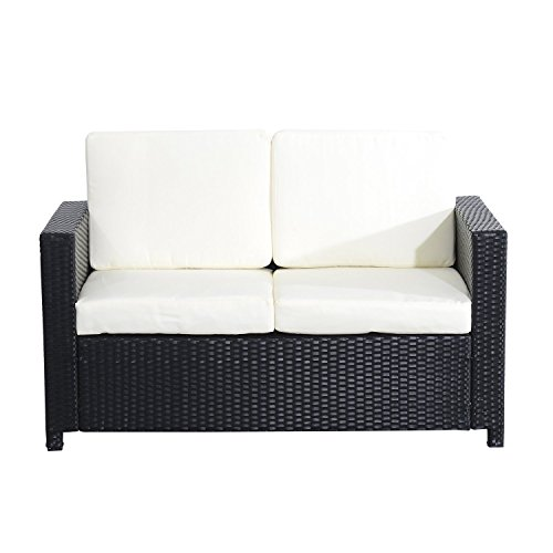 Outsunny-Sessel-Exklusives-Polyrattan-Gartenmbel-Doppelsofa-Gartenset-Sitzgruppe-5-teilig-schwarz