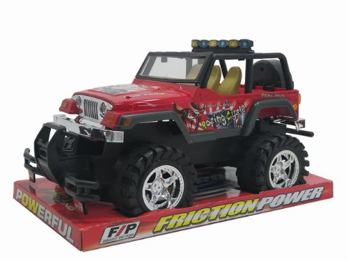 "WeGlow International 14.5"" Friction Power Racing Cycle Truck"