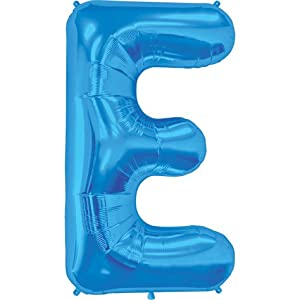 Amazoncom blue letter e 34 inch foil balloon toys games for Foil letter balloons amazon