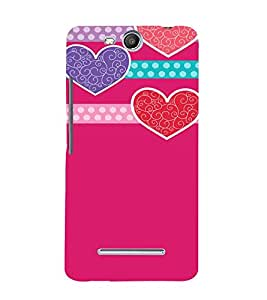 Pink Hearts Love 3D Hard Polycarbonate Designer Back Case Cover for MicromaxBoltQ338