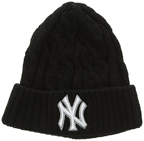 New Era New Era Cable Knit Ny Yankees-Cuffia Uomo    nero Talla unica