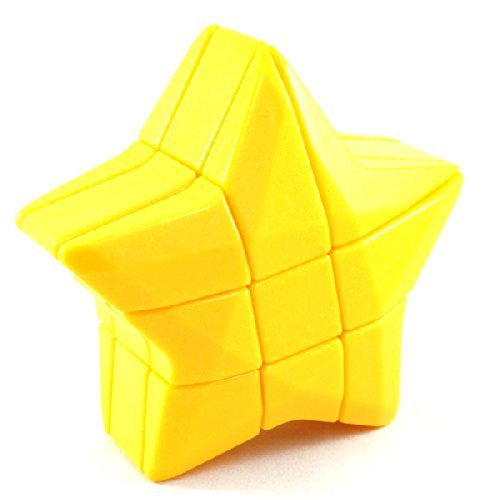 3x3x3 YJ Yellow Star Shape Mod Puzzle Cube Twisty Puzzle Smooth 3x3 Toy NEW