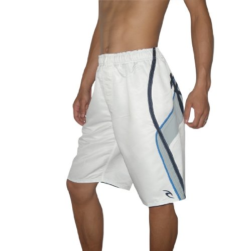 Mens Rip Curl MIRAGE 5 Skate & Surf Boardshorts Board Shorts - White (Size: M/30)