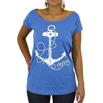 18841ac6b7b044 T Shirt Druck Wurzburg  T blouse Mit Anker Damen