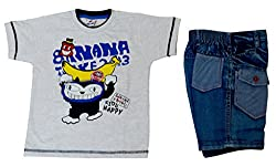 IL n ELLE Multicolored T shirt and shorts combo for baby boys for 1-2 yrs