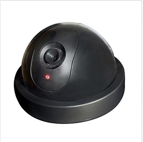 Buy Flexzion Dummy Dome Camera Wireless Security Simulated Surveillance CCTV with Warning Alert Stic...