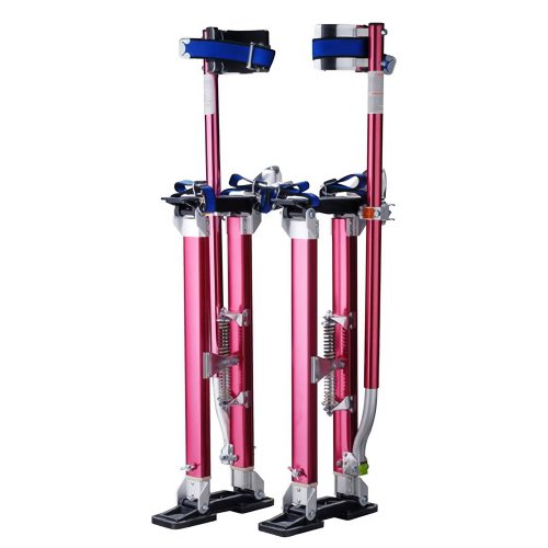 "Pentagon Tools 1122 Drywall Stilts, 24"" to 40"" Height, Red"