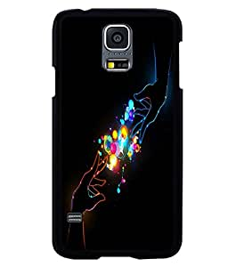 printtech Connecting Hands colored Back Case Cover for Samsung Galaxy S5 G900i::Samsung Galaxy S5 i9600::Samsung Galaxy S5 G900F