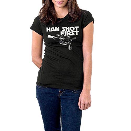 Womens Han Shot First Star Wars T-Shirt