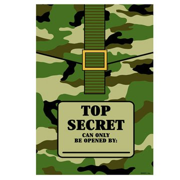Camouflage Top Secret Loot Bags 8ct