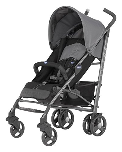 Chicco 06079547220000 Lite Way 2 Top Bb Passeggino, Nero
